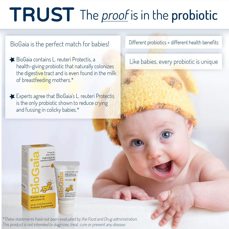 BioGaia Probiotics Drops with Vitamin D for Baby, Infants, Newborn