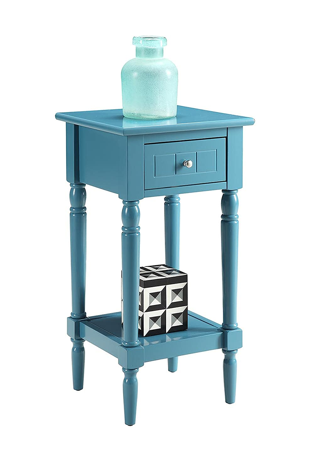 Convenience Concepts French Country Khloe Accent Table, Blue