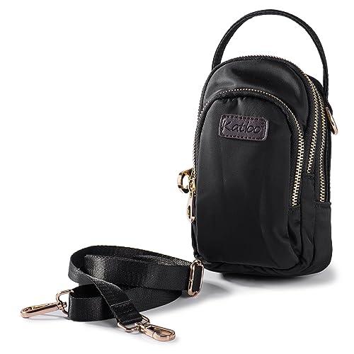 109624c9d269 Cellphone Purse Crossbody Bag Small Mini Handbag for Women Nylon Cross Body  Wallet with 3 Zipper Pockets