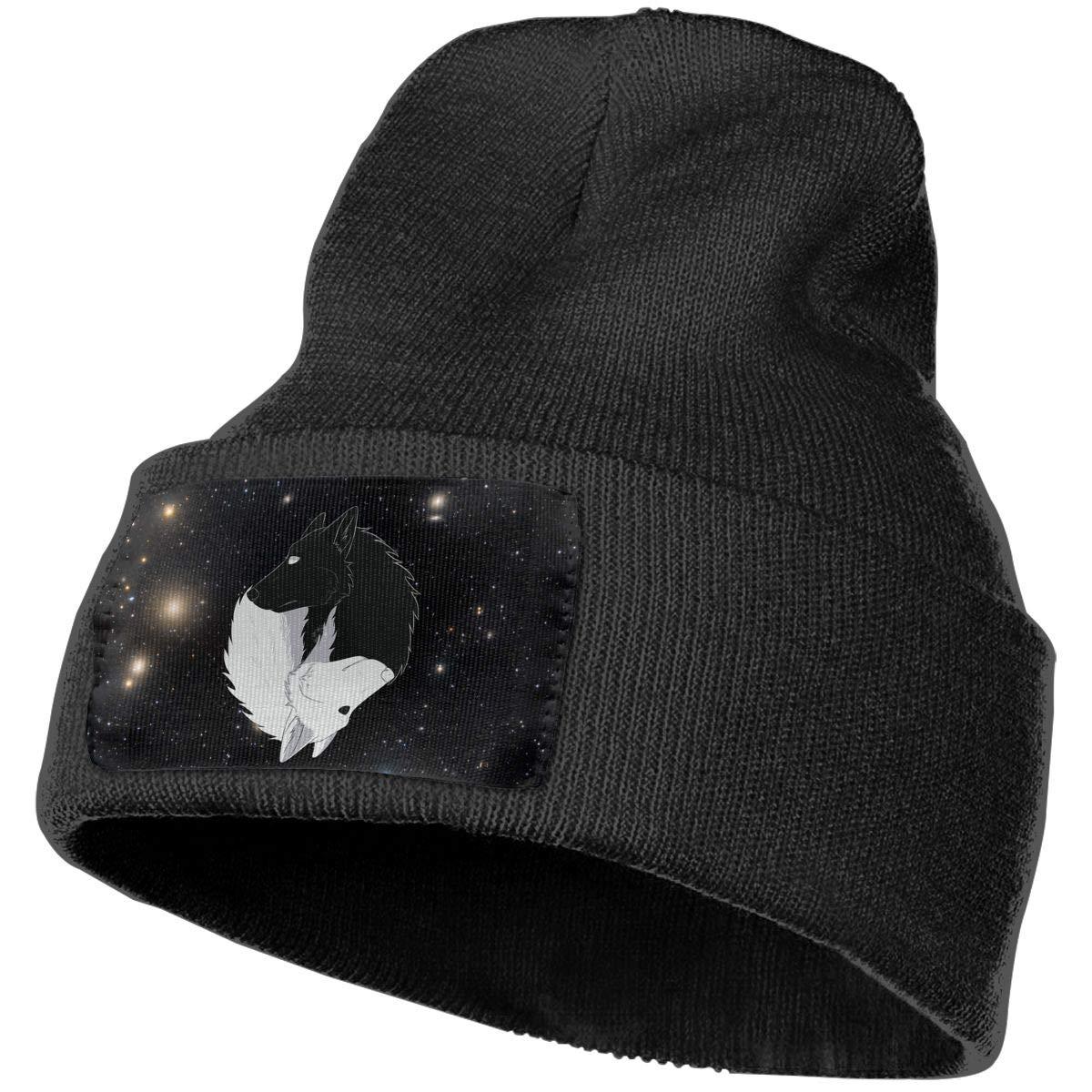 Yin Yang Wolves Winter Beanie Hat Knit Skull Cap for for Men /& Women