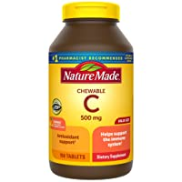 Nature Made Chewable Vitamin C 500 mg Tablets, 150 Count Value Size to Help Support...