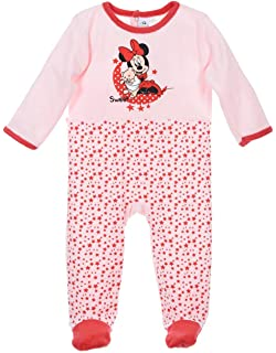 b526f959a9c78 Pyjama velours bébé fille Minnie Rose et Turquoise de 3 à 23mois (12 mois