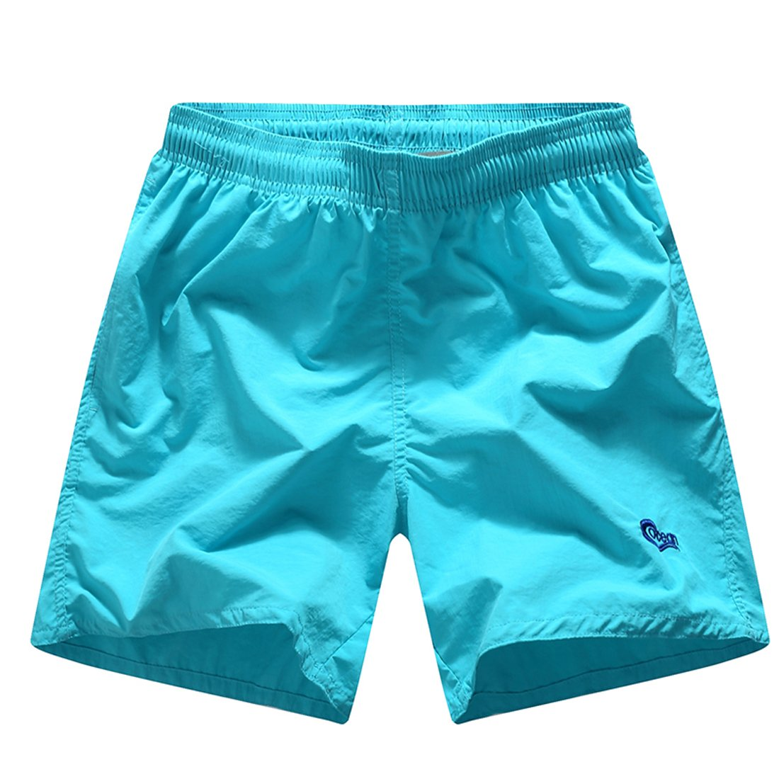 Men's Quick Dry Beach Shorts with Mesh Briefs Breathable Swim Trunks 5 Inseam