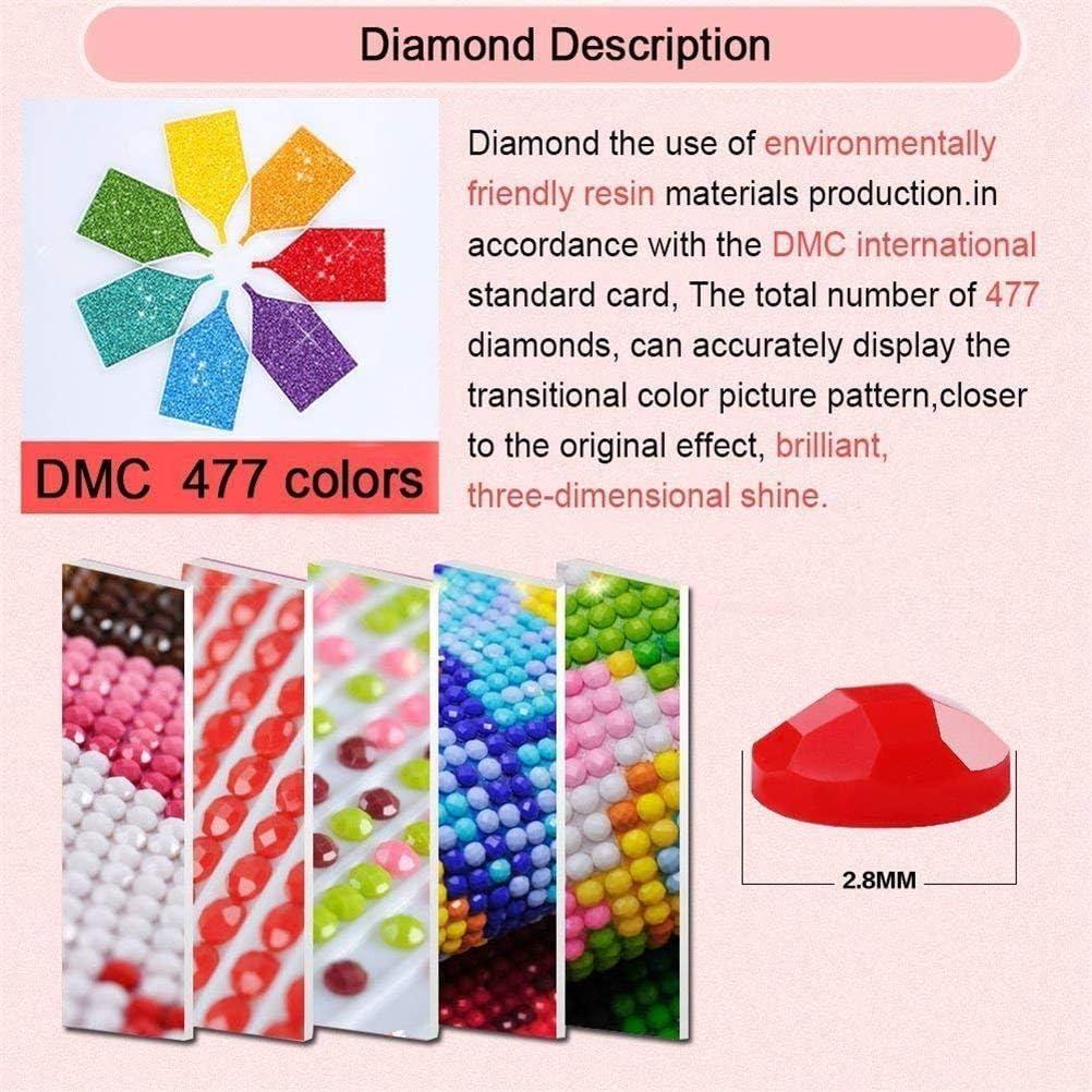Eiflow 5D Diamond Art Kits for Adults Dandelion Full Drill,DIY Embroidery Kits Paint by Diamonds Round Wall Decor 30x40CM