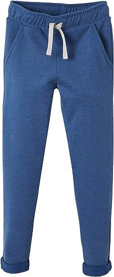 Vertbaudet Pantalon garçon en Molleton Bleu