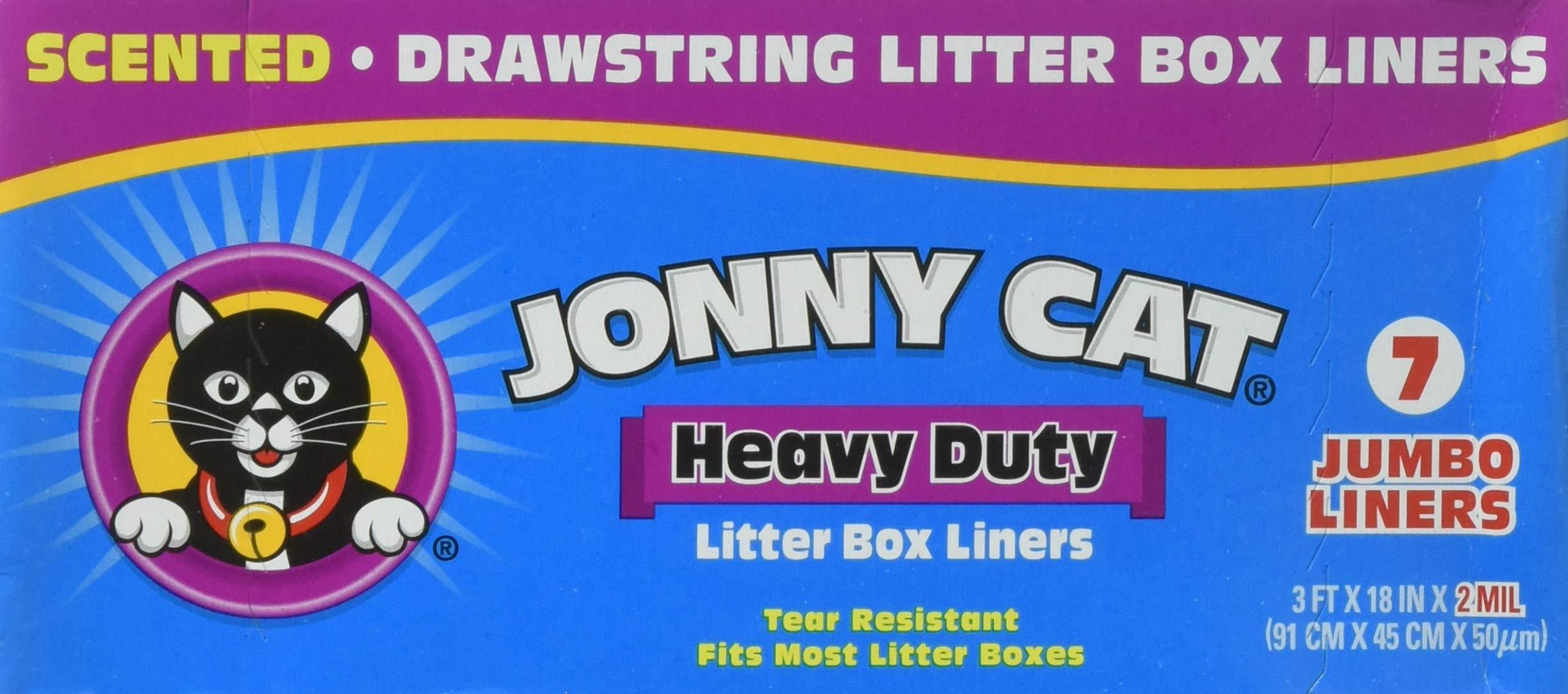 Jonny Cat Jumbo Scented Drawstring Cat Litter Box Liners -7 Per Box- (2 Pack/boxes) by Jonny Cat