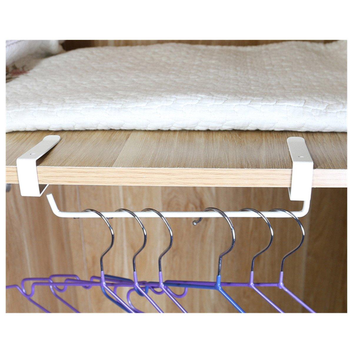 ECYC Kitchen Toilet Paper Hanger Sink Roll Towel Holder Hanger Organizer,White