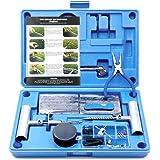 MAIKEHIGH Kit de Reparación para Neumáticos Pesados - Juego de 67 Piezas para Motocicleta, ATV, Jeep, Camión, Tractor