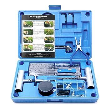 MAIKEHIGH Kit de Reparación para Neumáticos Pesados - Juego de 67 Piezas para Motocicleta, ATV, Jeep, Camión, Tractor: Amazon.es: Coche y moto