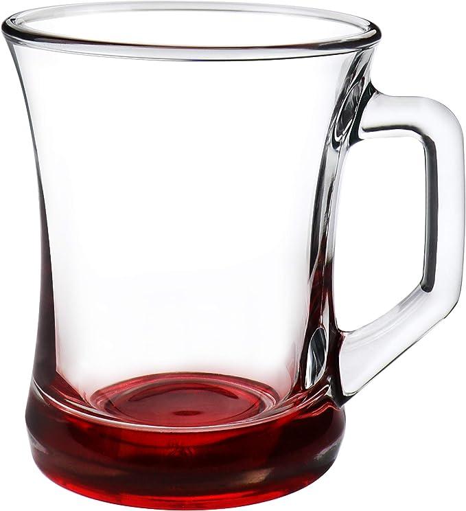 apto para lavavajillas com-four/® Juego de vasos de 6 piezas vaso de t/é//caf/é//capuchino Set3-06 piezas//vaso de t/é coloreado