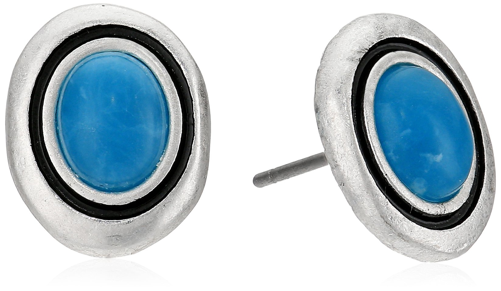 The SAK Women's Stone Stud Earrings, Color Teal
