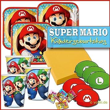 Unbekannt Super Mario Kindergeburtstag Partypaket Party Deko Paket