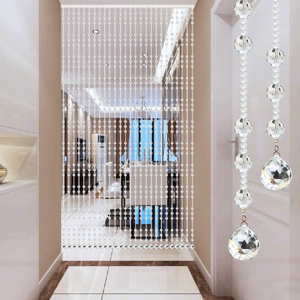 GuoWei-Cortinas de Cuentas Vaso Cristal Colgantes Puerta Tabique Panel Decoración Colgando Moderno Personalizable (Color : Claro, Tamaño : 25 strings-80x150cm): Amazon.es: Hogar