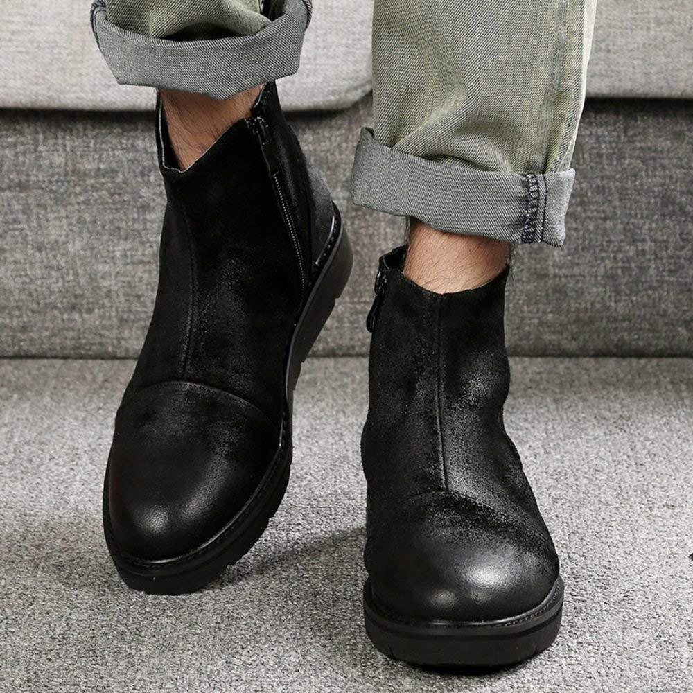FuweiEncore Beiläufige Beiläufige Beiläufige Schuhe Der Männer Frühlings-und Herbst-Starke Britische Retro Werkzeug Schuhe (Farbe   Schwarz, Größe   41EU) acff24