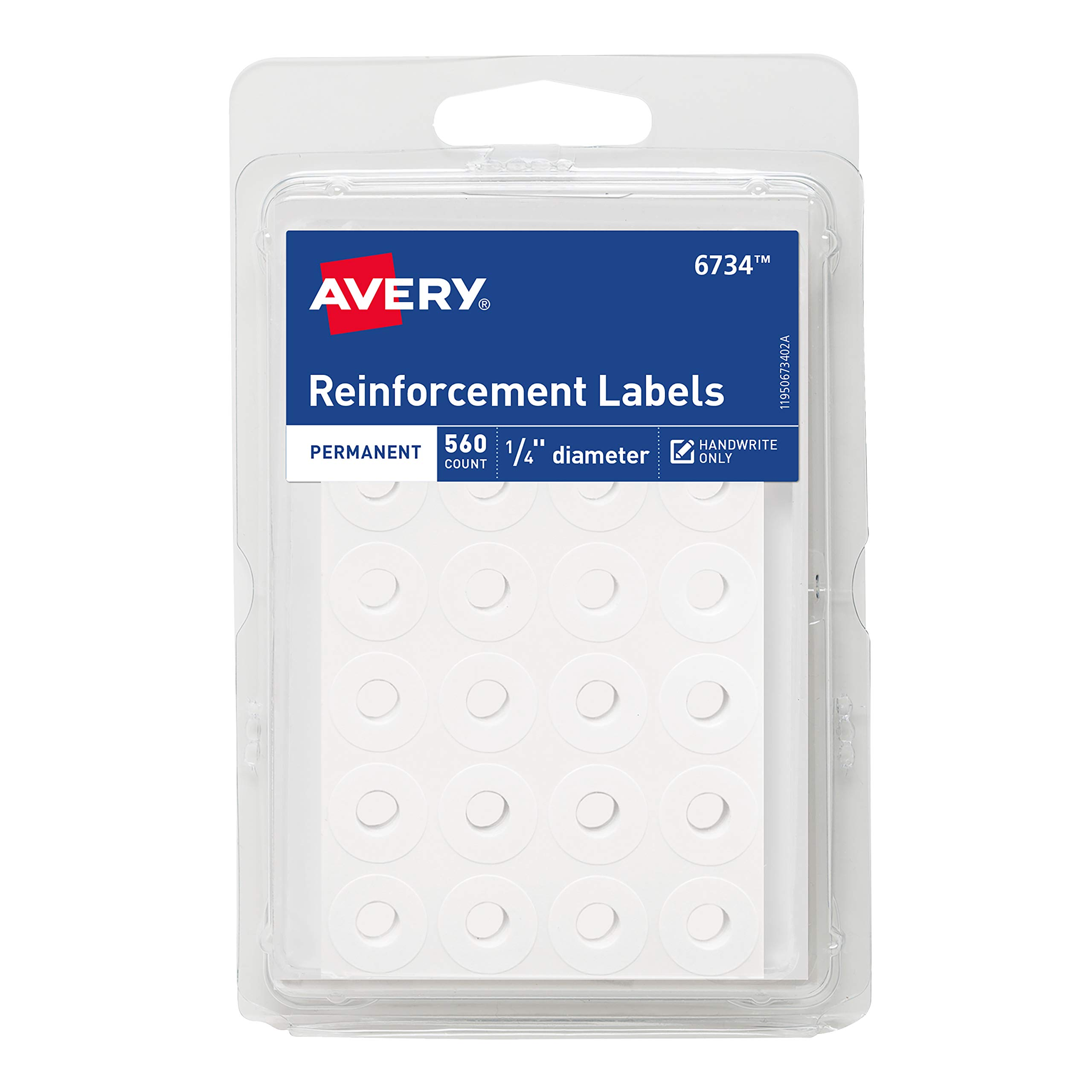 Paper Hole Reinforcements Self-Adhesive 1//4 Inch Holes Reinforcements in Dispe