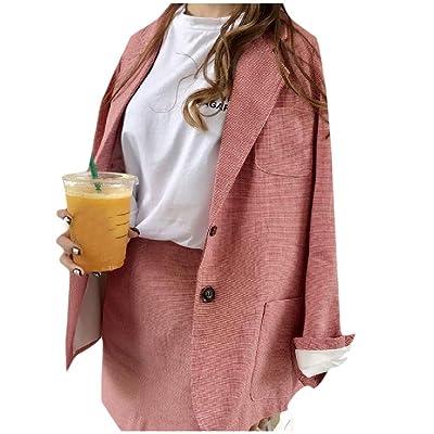 Sexybaby Women's All-Match Houndstooth Jacket Blazer Outwear 2 Piece