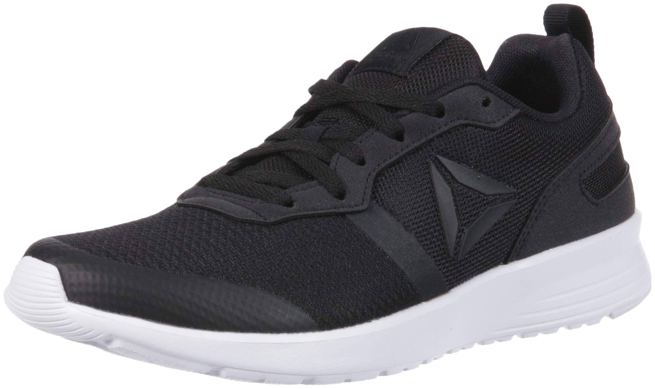Reebok Women's Foster Flyer Sneaker, Black/White, 8 M US