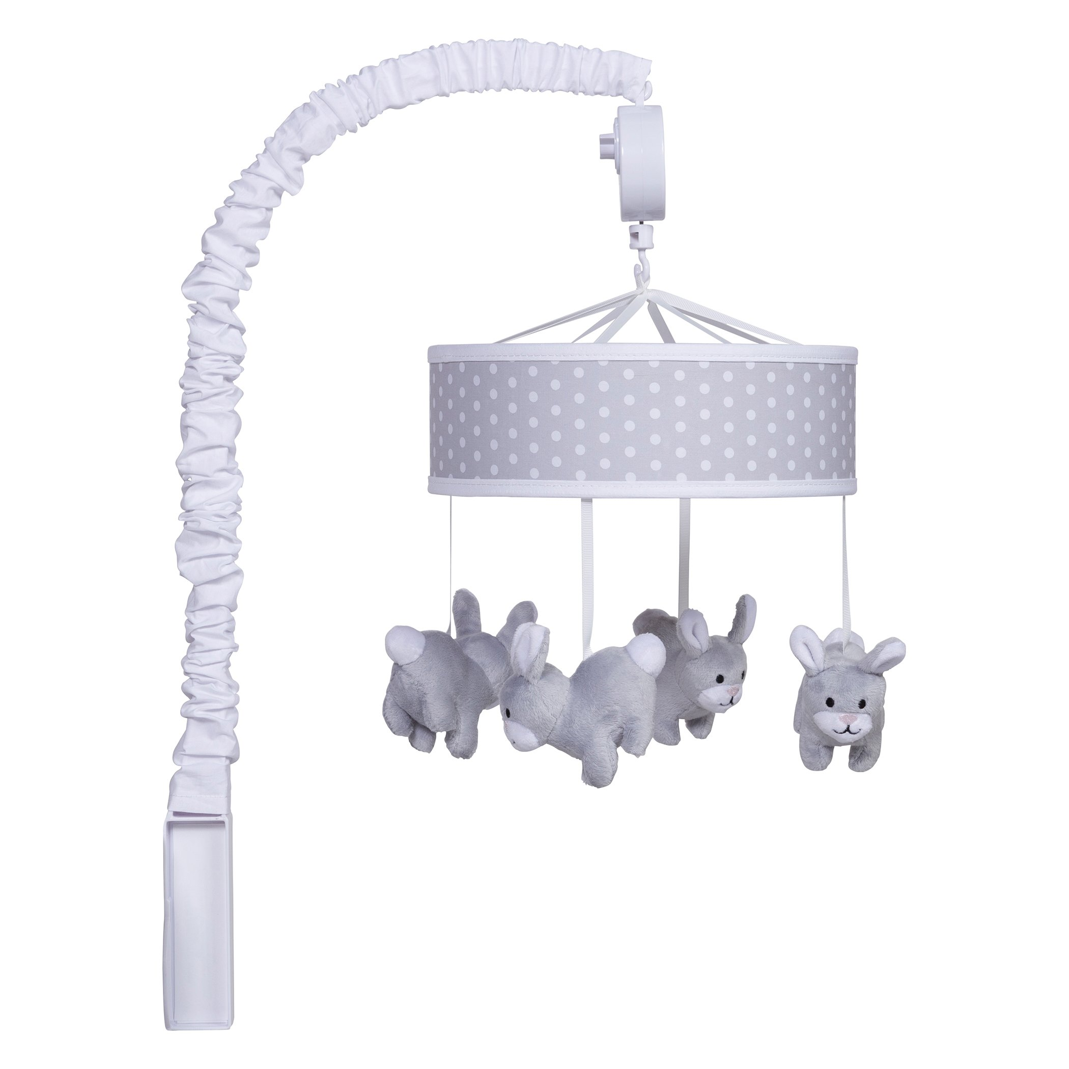 Trend Lab Bunny Musical Mobile, Gray/White