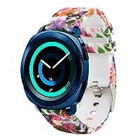 20mm Quick Release Watch Soft Silicone Band Samsung Gear Sport/Samsung Galaxy Watch 42mm/ Garmin VivoActive 3/ Ticwatch 2/ Ticwatch E/Amazfit Bip Smart Watch