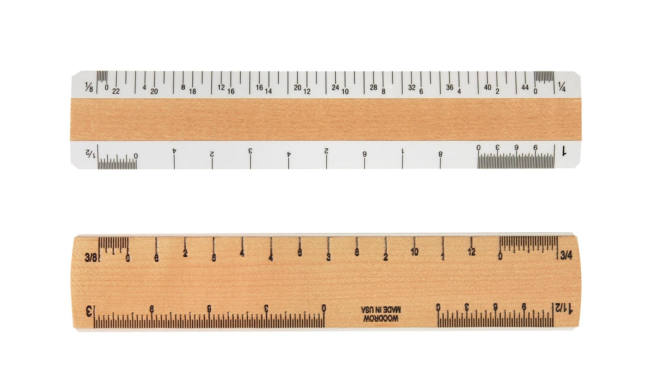 Woodrow 6'' Architectural 2 Bevel Wood Ruler