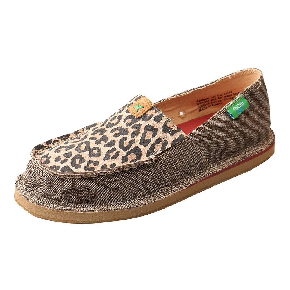 Twisted X Boots Womens Ladies Eco Leopard Print Casual Loafer 10 B Tan