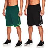 AND1 Pantalones cortos de baloncesto para hombre con cintura elástica y bolsillos, entrepierna de 12 pulgadas