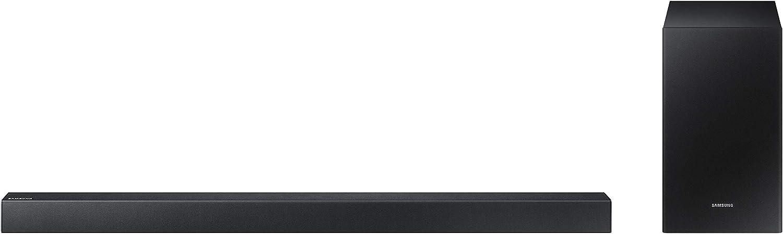 Barra de Sonido Samsung HW-R550 2.1Ch 320W con subwoofer inalámbrico, Streaming de Música y Surround Sound Ready
