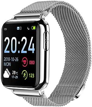 BEUHOME Reloj Inteligente, V5 Smartwatch Impermeable IP67 ...