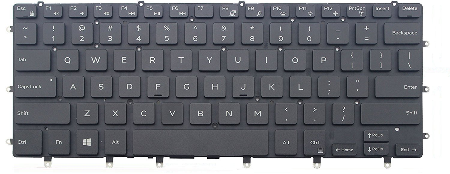 KBR Replacement Keyboard for Dell Inspiron 13-5368 i5368 13-7368 i7368 13-7368 i7378 Laptop with Backlit