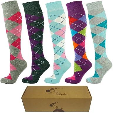 722f324ac Mysocks Mens Knee High Golf Socks Gift Box Size 8-11 at Amazon Men s ...