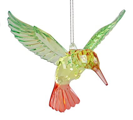 caffco prismatic hummingbird hanging christmas ornament