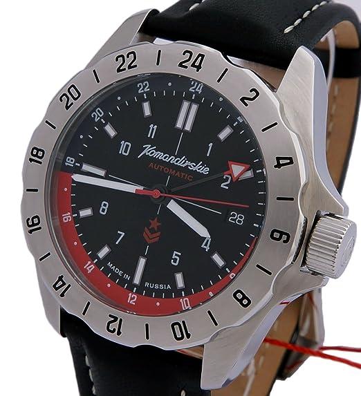 Vostok Militar ruso KOMANDIRSKIE K39 reloj negro 2426/390635: Amazon.es: Relojes