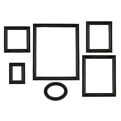 Square black frame Border Image Unavailable Amazoncom Amazoncom Melannco Distressed Empty Frame Set Black 6count