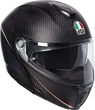 AGV Sport – Casco modular Tricolore Carbon/Italy/mate