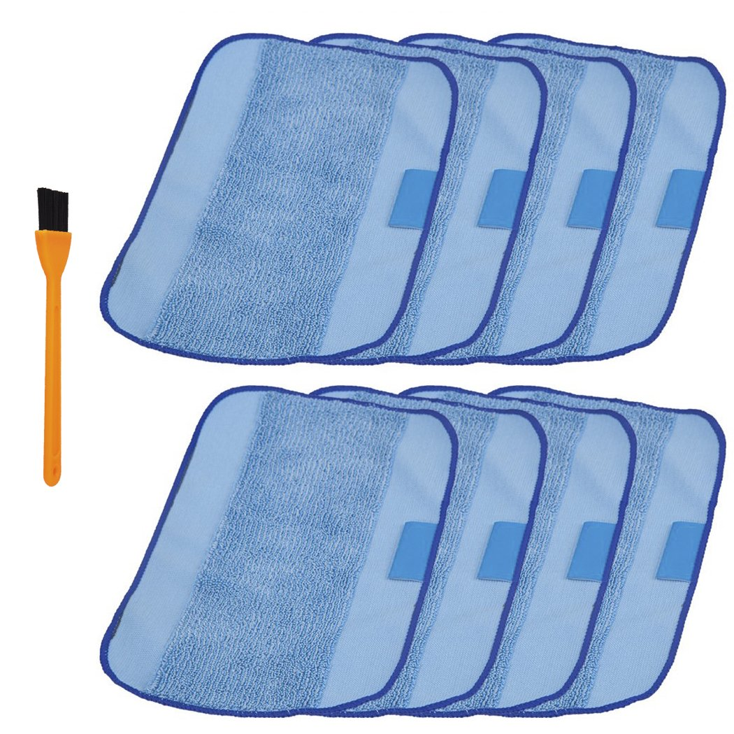 Microfiber Cloth Wet: Hongfa 8pcs Irobot Braava 380t Microfiber Wet Mopping