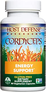 product image for Host Defense, Cordyceps Capsules, Energy and Stamina Support, Daily Dietary Supplement, USDA Organic, 60 Vegetarian Capsules (30 Servings)