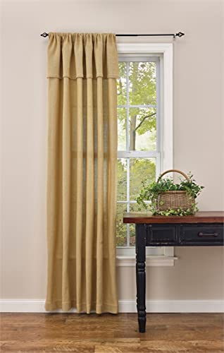 Park Designs Burlap Rod Pocket Curtain Panel