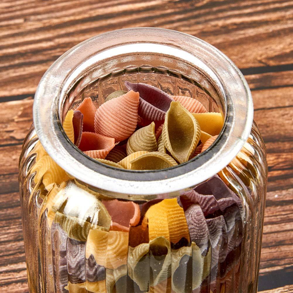 Riso Decorazioni Pasta Zucchero Bagno 1300 ml Farina Biscotti Caramelle EZOWare Set di 3 Barattoli di Vetro Contenitori per la Conservazione Alimenti con Coperchio per Cucina