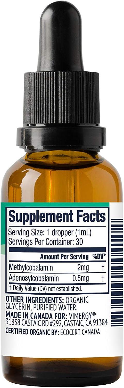 Vimergy USDA Organic B-12 30 ml