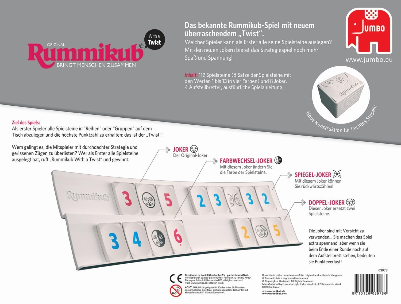 Jumbo 3978 Original Rummikub with A Twist Board Game