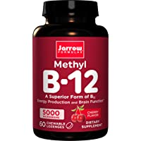 Jarrow Formulas Methylcobalamin (Methyl B12), Supports Brain Cells, 5000 mcg, 60...