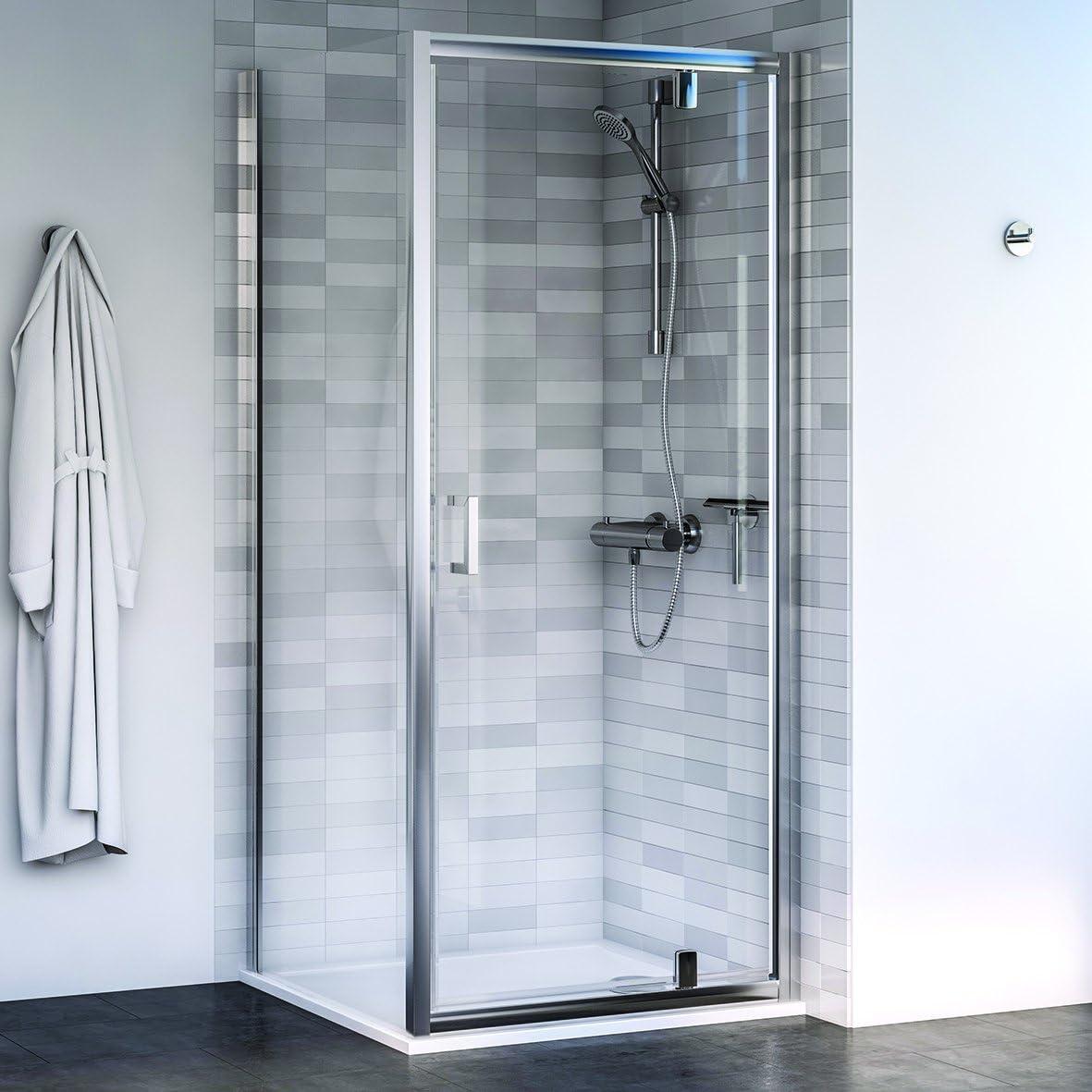 Aqualux 1193896 Pivot para mampara de ducha y el Panel lateral), pulido Plata, 800 mm x 800 mm, set de 2 piezas: Amazon.es: Bricolaje y herramientas