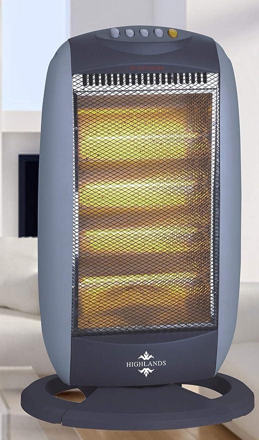 HALOGEN HEATER ELECTRIC 1600W OSCILLATING PORTABLE LIGHTWEIGHT FREE STANDING