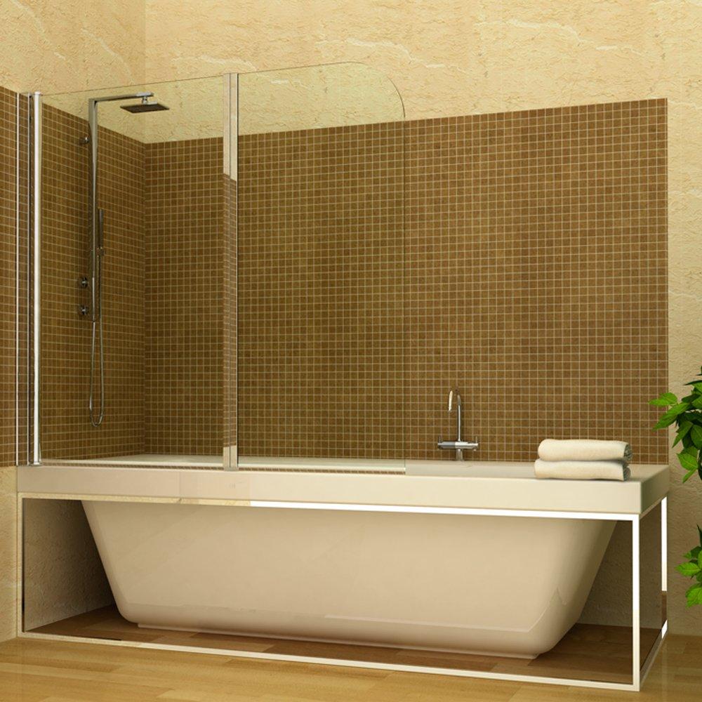 Duschabtrennung Badewannenfaltwand Duschwand 2 Türflügel ... | {Duschabtrennung badewanne 53}