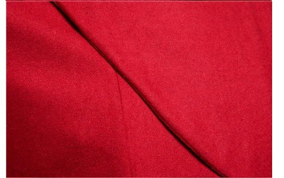 Red Coolred-Men Mid Long Single Single Single Breasted Turtleneck Outerwear Coat Jacket ee128f