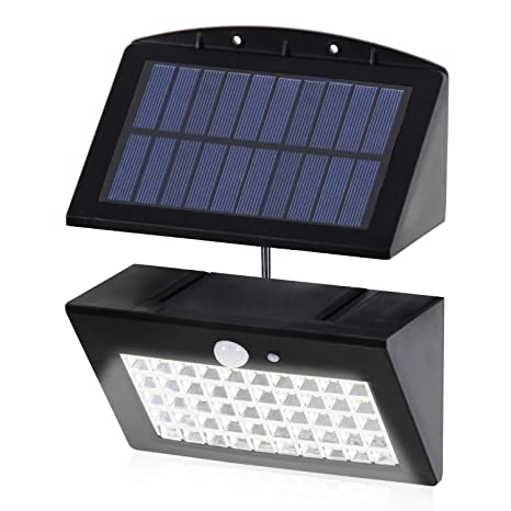 Lámpara de Pared Solar, T-SUN 50 LED Lámpara Solar con Sensor de Movimiento