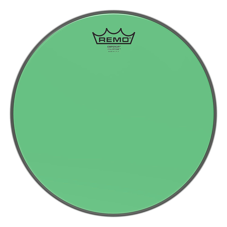 Remo Emperor Colortone Green Drumhead, 12