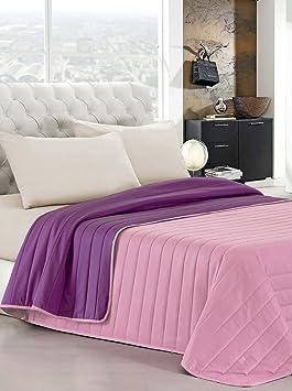 elegant couvre lit violet dt lilas 260 x 270 cm - Couvre Lit Violet
