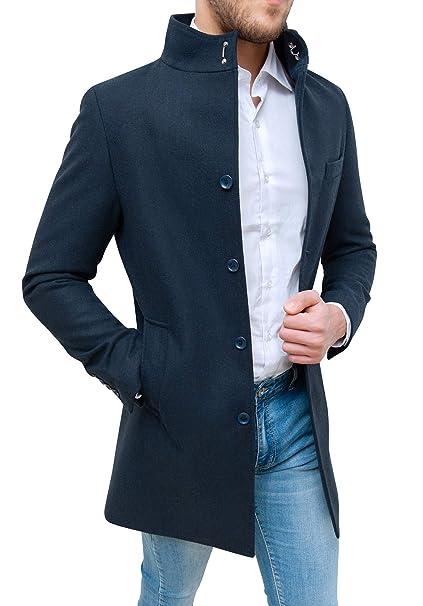 Evoga Cappotto Soprabito Uomo Sartoriale Blu Elegante