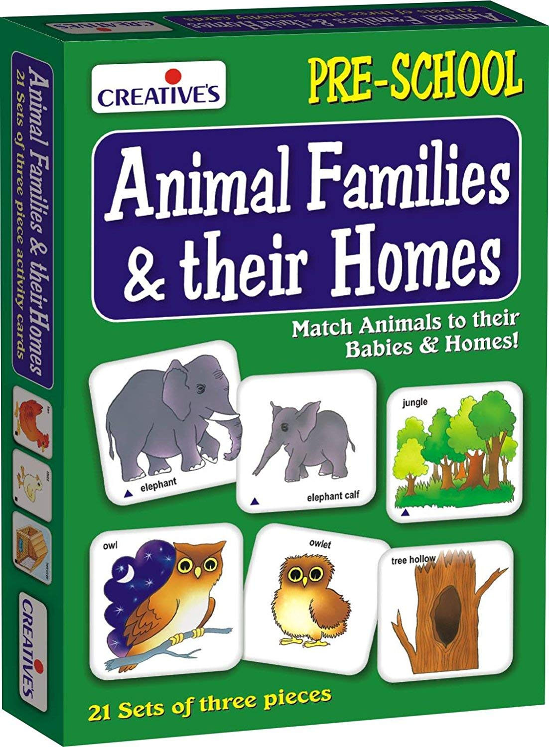 Creative's Animal Families and Their Homes Card Game (Multi-Color, 63 Pieces) product image
